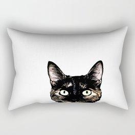 Peeking Cat Rectangular Pillow