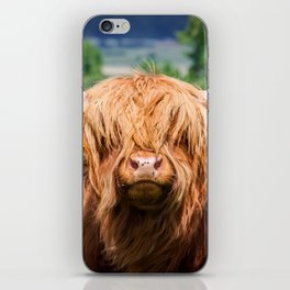 Cute Long-haired cow iPhone Skin