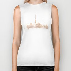 Watercolor landscape illustration_Paris Biker Tank