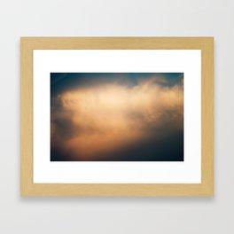 Heavenly Clouds Framed Art Print