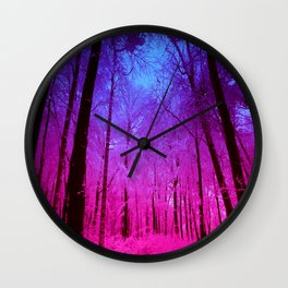 Fuchsia Forest Wall Clock