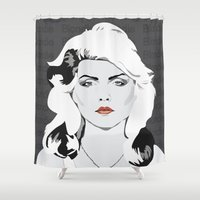 blondie Shower Curtains featuring blondie by Tara Durrant Designs