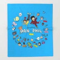 The Vortex of Everything Dan and Phil Throw Blanket