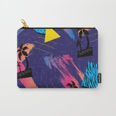 Retro Tropical Geometric Pattern Carry-All Pouch