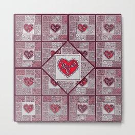 Big hearted Love (red) Metal Print