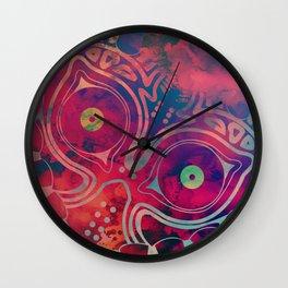 Watercolored Majora's Mask Wall Clock