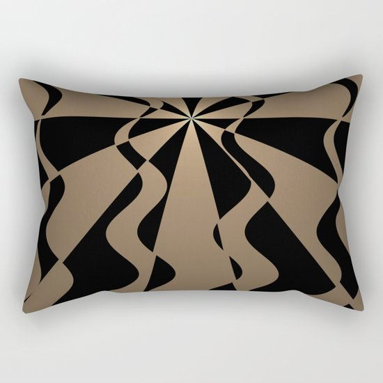 Trendy abstract in gold and black Rectangular Pillow
