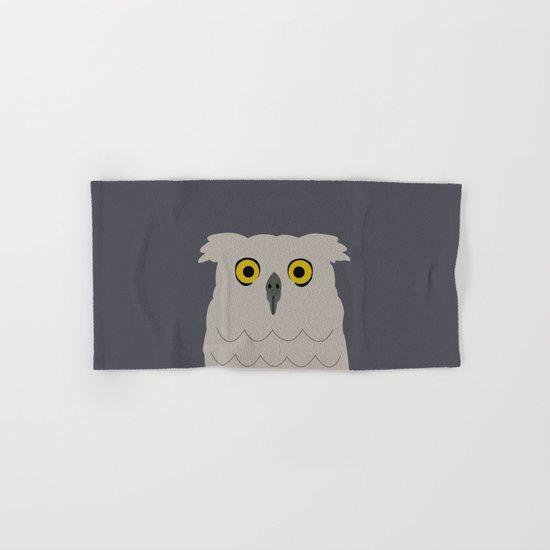 Wide Eyed Owl Hand & Bath Towel