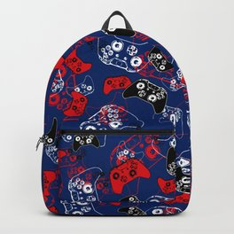 Video Game Red White & Blue 1 Backpack