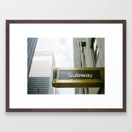 Subway Station Framed Art Print