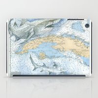 cuba iPad Cases featuring Cuba Sharks by Carly Mejeur