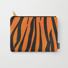 Wild Orange Black Tiger Stripes Animal Print Carry-All Pouch