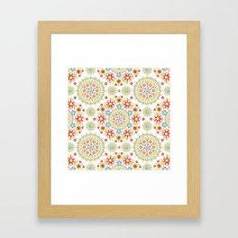 Flower Crown Carnival Framed Art Print