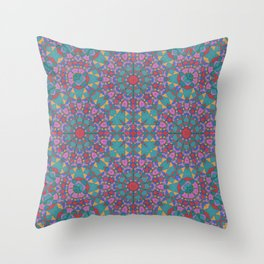 Jeweled Mandala Throw Pillow