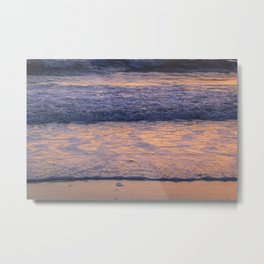 Sunset Waves Metal Print