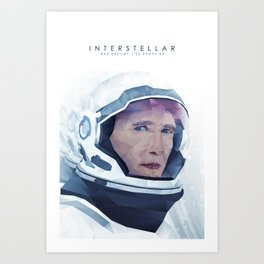 Interstellar Low Poly Poster Art Print