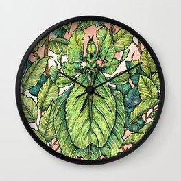 Leaf Mimic Wall Clock