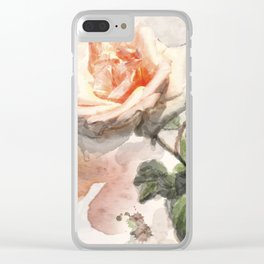 Floral 10 Clear iPhone Case