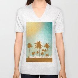 Palms at desert Unisex V-Neck