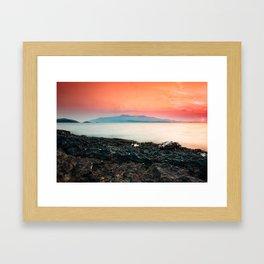 Sunset at sea IV Framed Art Print