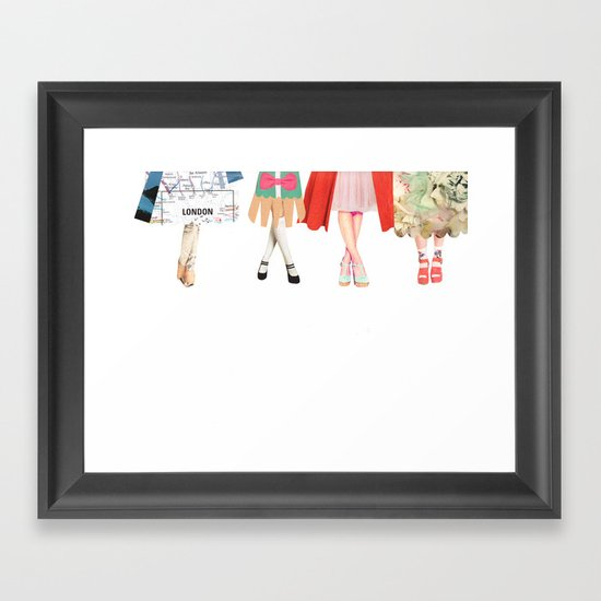 Legs and heeels Framed Art Print