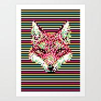 Pixel Fox Art Print
