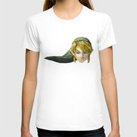 video games T-shirts featuring Triangles Video Games Heroes - Link by s2lart