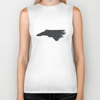 north carolina Biker Tanks featuring North Carolina  by TheRileyHouse