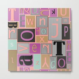 fun bright alphabet jumble Metal Print