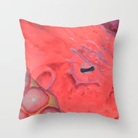 poe Throw Pillows featuring Poe by The Hue Zoo