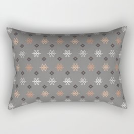 Boho Baby // Middle Eastern Metallic // Scorpion Symbol + Geometric Floral in Charcoal Rectangular Pillow