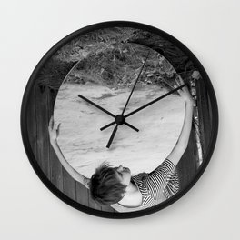 Holding the World Wall Clock