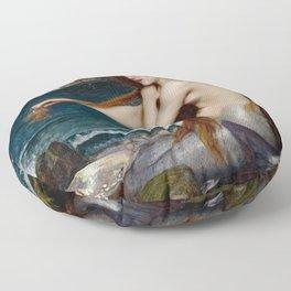 Mermaid John William Waterhouse Floor Pillow