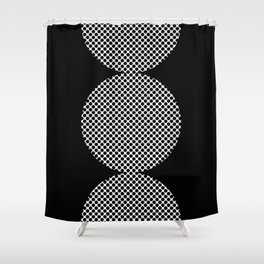 It could be a Semicolon...BUT...there is an additional dot. So it's more like a scorpion tail. Shower Curtain