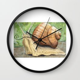 Snail 'Stache Wall Clock