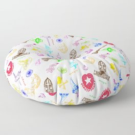 Magic symbols Floor Pillow