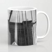 brooklyn bridge Mugs featuring Brooklyn Bridge by Nicklas Gustafsson