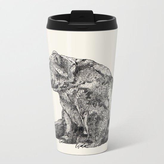 Bear // Graphite Metal Travel Mug