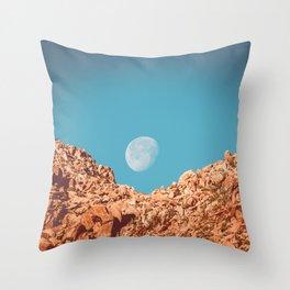 Moon over Anza Borrego Throw Pillow