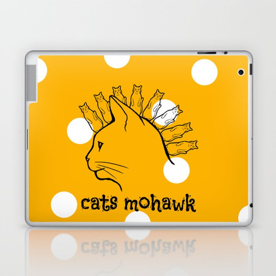 Cats Mohawk Laptop & iPad Skin
