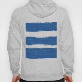 Modern white blue pastel brushstrokes stripes Hoody