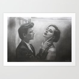 David Lynch & Isabella Rossellini Art Print