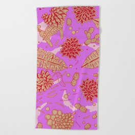 Warm Flower Beach Towel