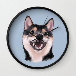 Smiling Shiba Inu Wall Clock