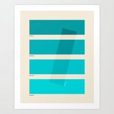 COLOR BURN Art Print