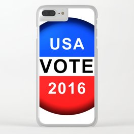 Vote Button 2016 Clear iPhone Case
