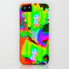 simpsons acid glitch iPhone Case