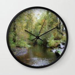 Autumn Creekside Wall Clock