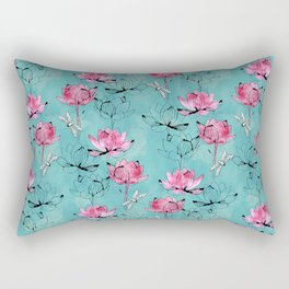 Waterlily dragonfly Rectangular Pillow
