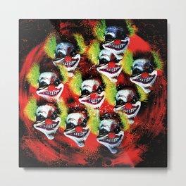 Halloween Horrorclown Collage Metal Print